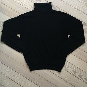Talbots Wool Turtleneck Sweater in Black